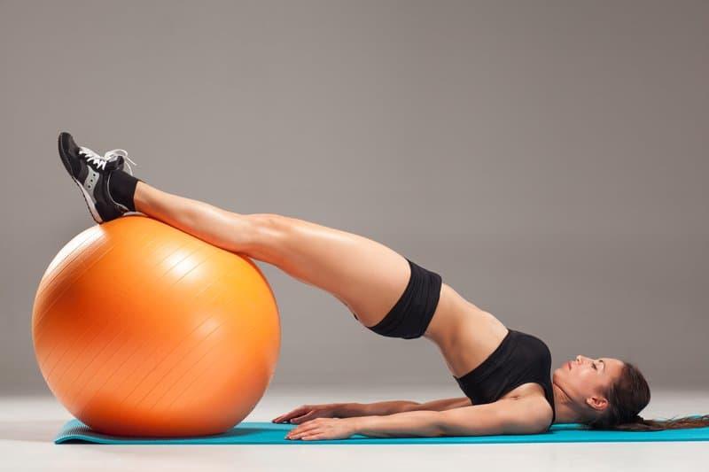 Stability Ball Hamstring Curl