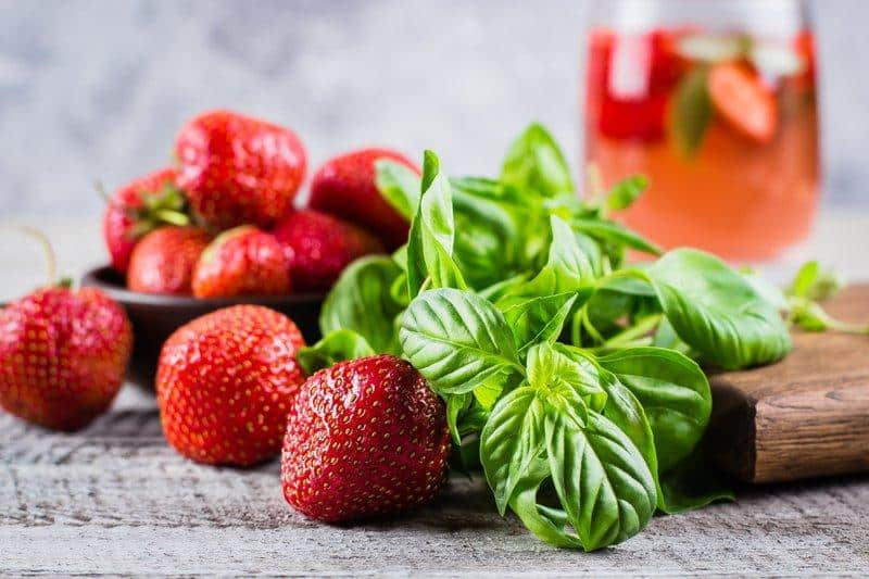 Strawberry and Basil Detox