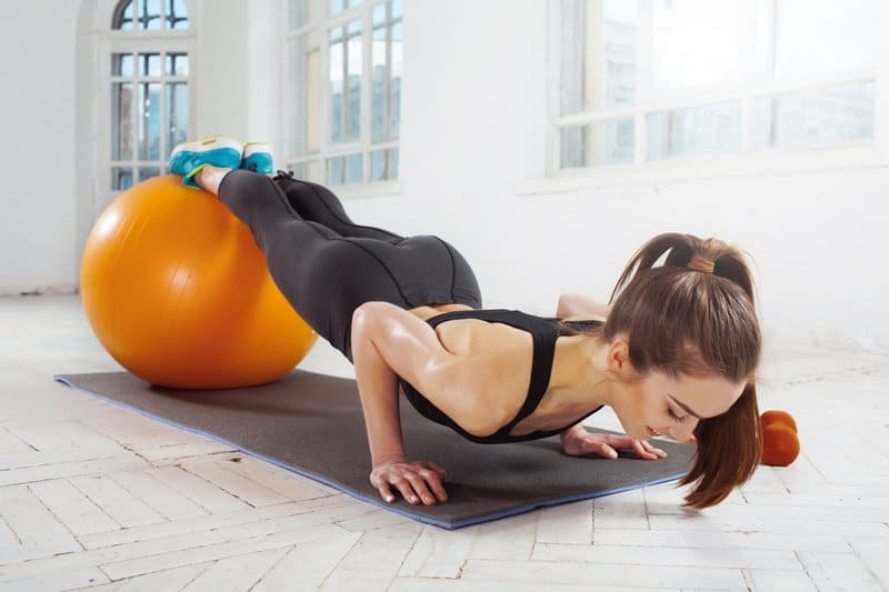Exercise Ball Push-Up