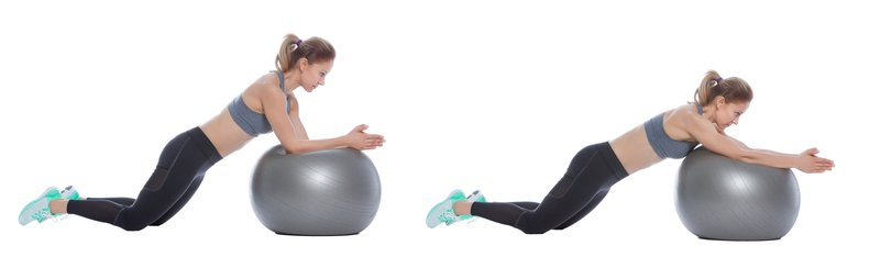 Exercise Ball Roll Out