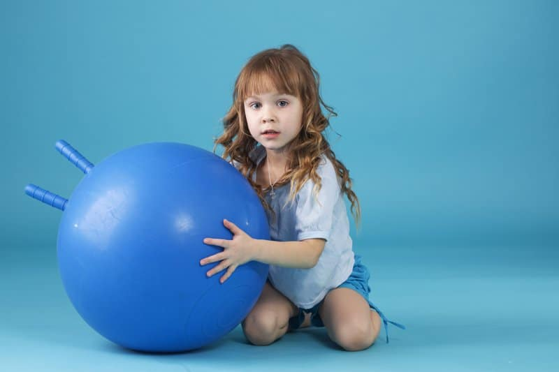 Exercise Balls With a Handle