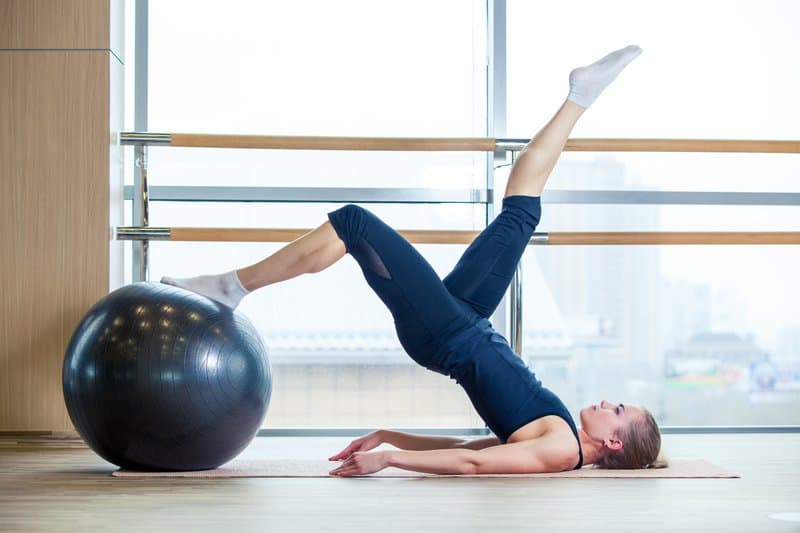 Single-Leg Exercise Ball Hip Thrust