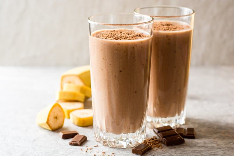 Chocolate, Banana, and Almond Butter Smoothie