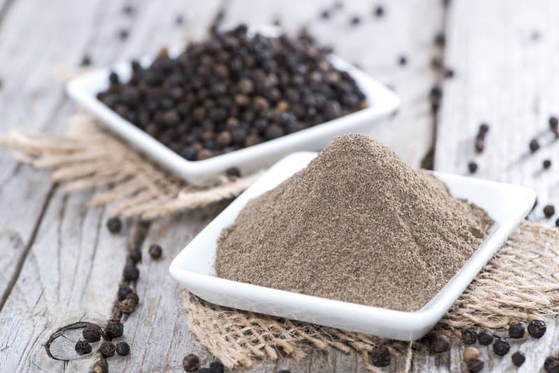Black pepper aids in weight loss by speeding up metabolism, breaking down fat cells, and improving digestive functions.