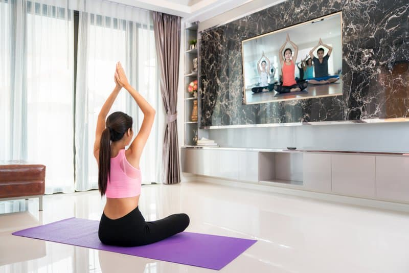 Yoga is often one of the best ways to start improving your fitness from home.