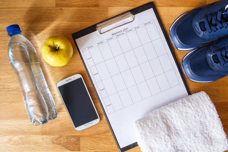It is important to write down your personal fitness goals and keep track of your weight loss progress.