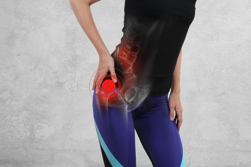 Some people suffer from degenerative joint disease in the hip.