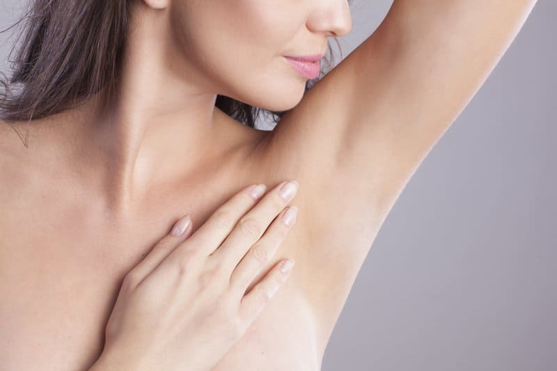 Some deodorants may contain aluminum chloride