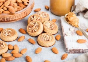 Almond Butter Cups with Almonds