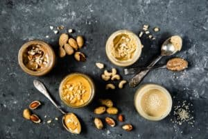 different kinds of nut butters