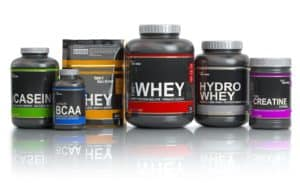 variety of pre-workout supplements
