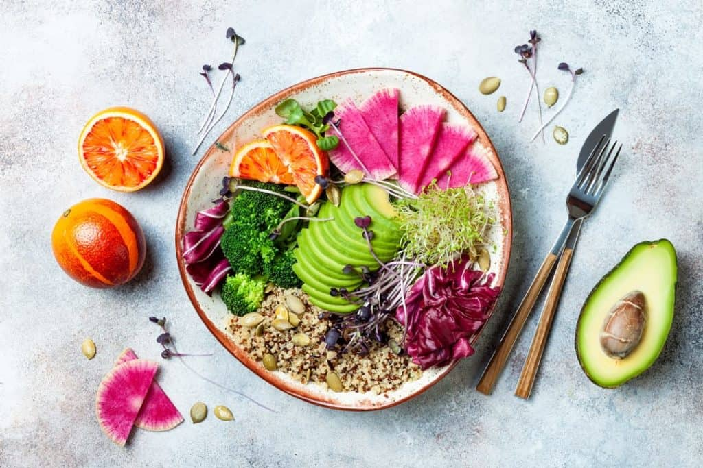 plant-based diet meal on plate