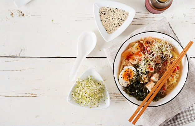 Healthy Broth-Based Soups - Miso Ramen Asian Noodles