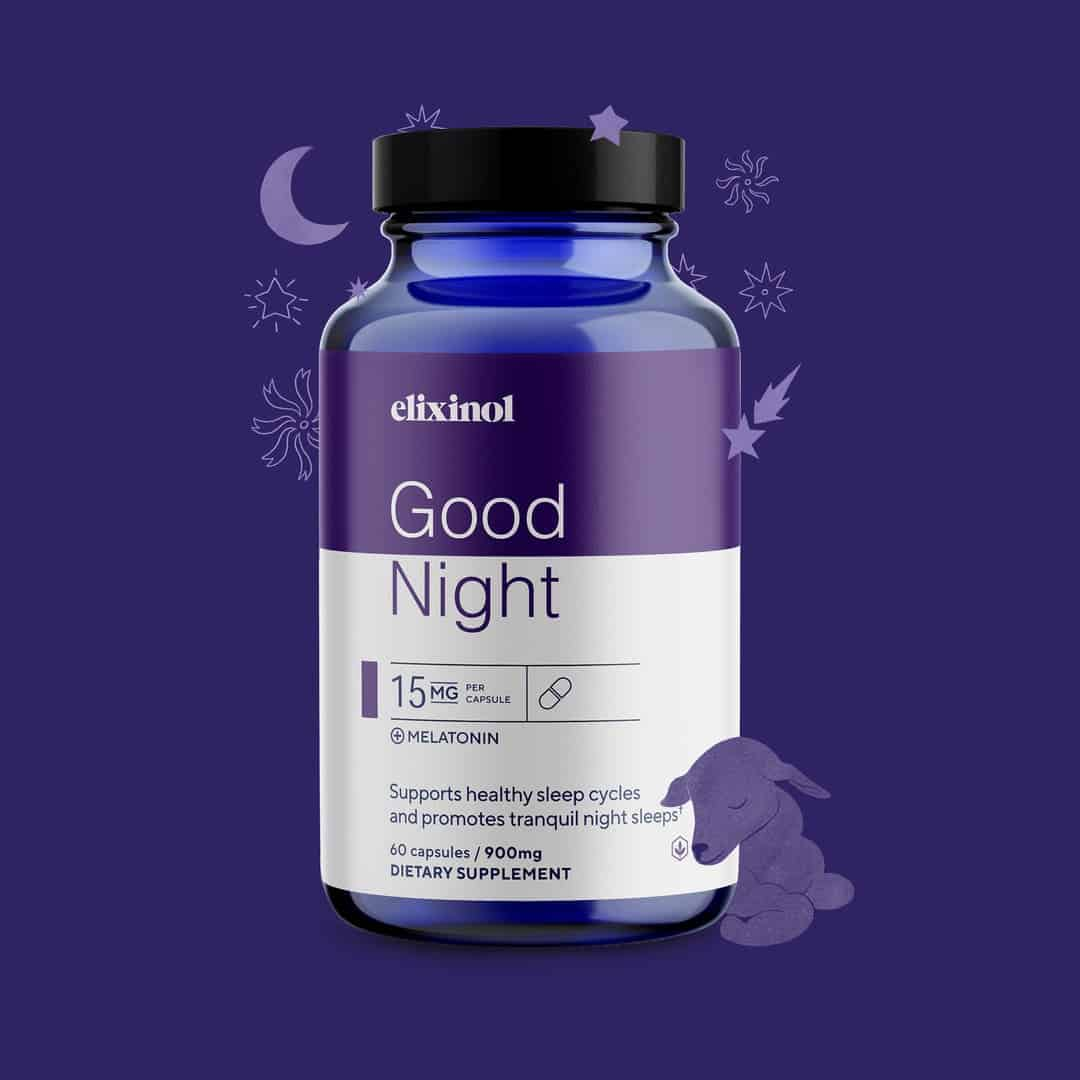 Elixinol Good Night Capsules: The Natural Sleep Support for Better Nights 1