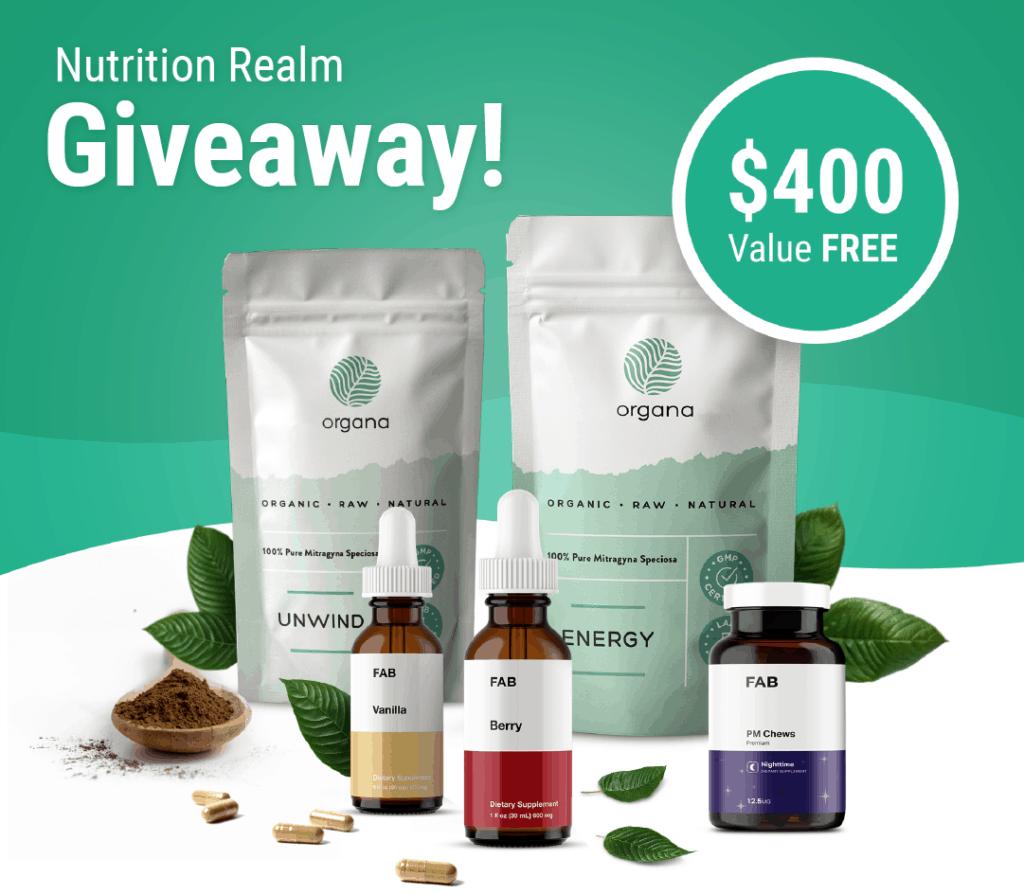 FAB & Organa Natural Supplements Giveaway! 1