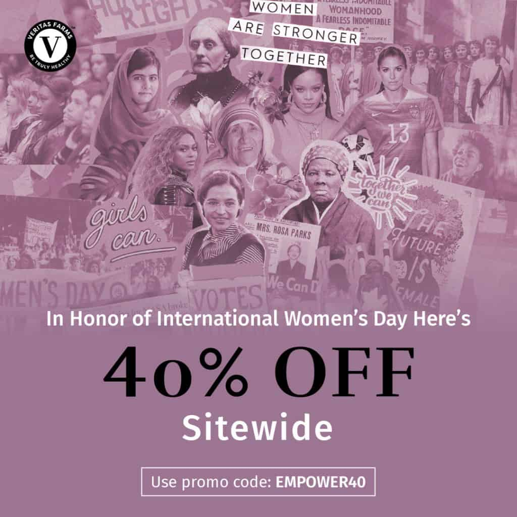 Veritas International Women's Day Sale! 40% Off Site-Wide! 1