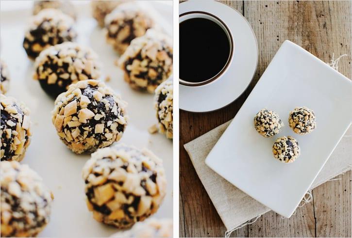 almond date truffles